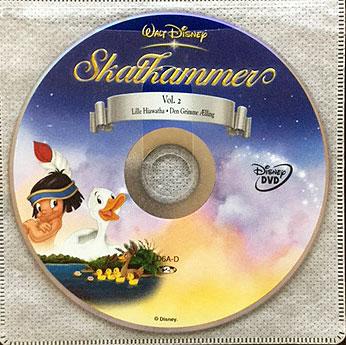 Disney Skatkammer Vol. 2 (Lille Hiawatha + Den Grimme Ælling) kun disc. Brugt DVD-film.