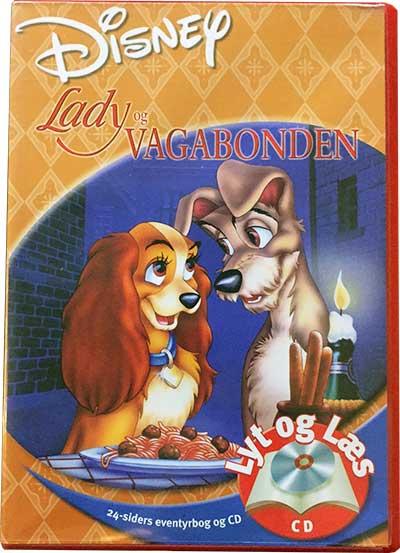 Lady og Vagabonden - Lyt og Læs (bog+cd) Disney