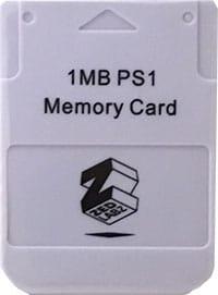 1MB PS1 Memory Card Hukommelseskort