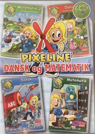 PIXELINE Dansk og Matematik - 4 spil i en boks