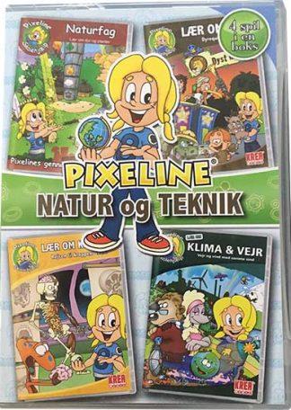 PIXELINE Natur og Teknik - 4 spil i en boks PC Mac