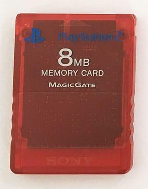 Sony 8MB Memory Card PS2 rød