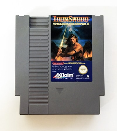 Iron Sword Wizards & Warriors II Nes