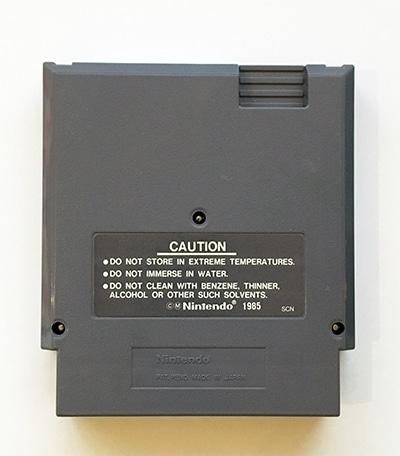 Chip 'n Dale Rescue Rangers NES SCN bagside