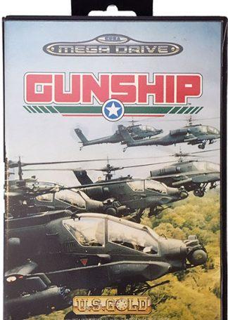 Gunship Sega Mega Drive brugt spil