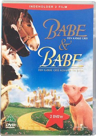 Babe den Kække Gris + Babe den Kække Gris kommer til Byen (2 dvd-film) Dvd