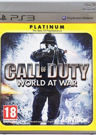 Call of Duty World at War PS3 platinum