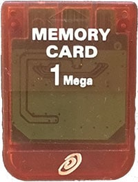 1MB PS1 Memory Card Rød