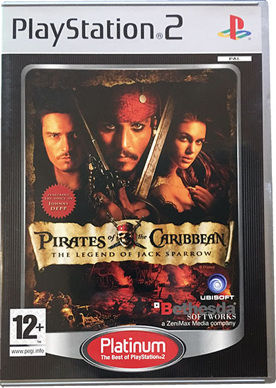 Pirates of the Caribbean The Legend of Jack Sparrow PS2 platinum