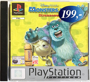 Monsters Inc. Skræmmeøen (platinum) PS1