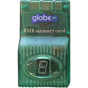 8 MB Memory Card med LED Display til PS1 fra globe