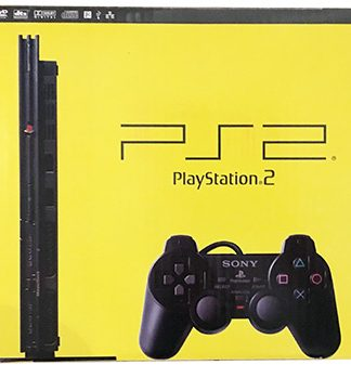 PlayStation 2 konsol (slim) i æske