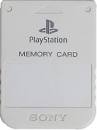 1MB Sony PS1 Memory Card (originalt) (lysegrå)