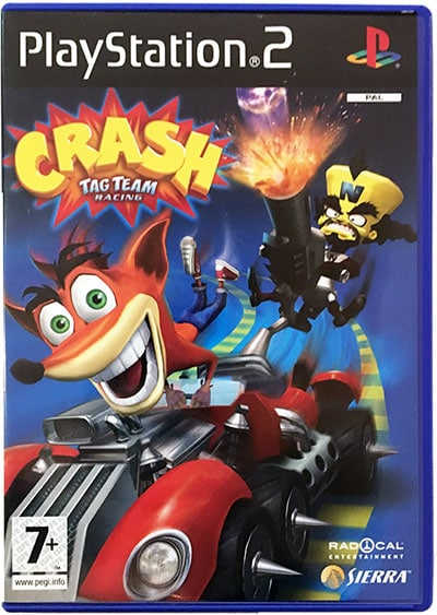 crash bandicoot tag team racing ps2 iso