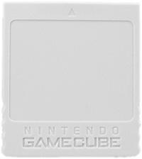 Nintendo GameCube Memory Card (originalt) (lysegrå)