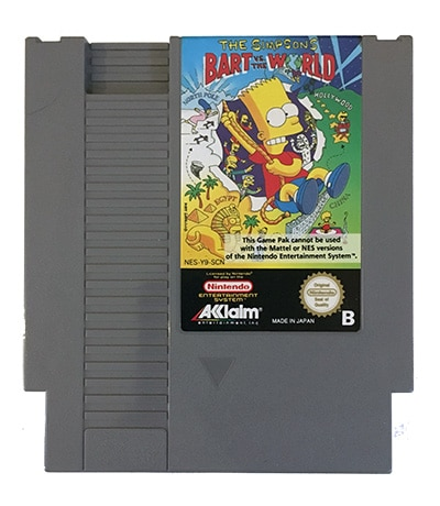 The Simpsons Bart vs The World (NES-Y9-SCN)