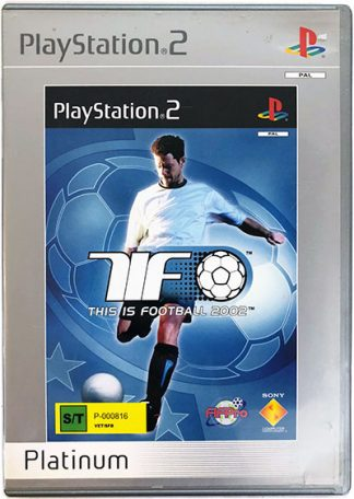 This is Football 2002 (platinum) PS2