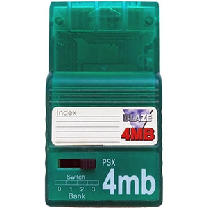 4 MB PS1 Memory Card fra blaze PSX
