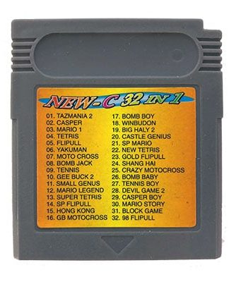 New-C 32 in 1 Game Boy