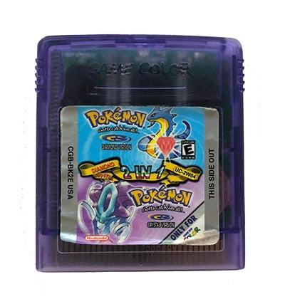 Pokémon Diamond + Crystal 2 Game Boy Color