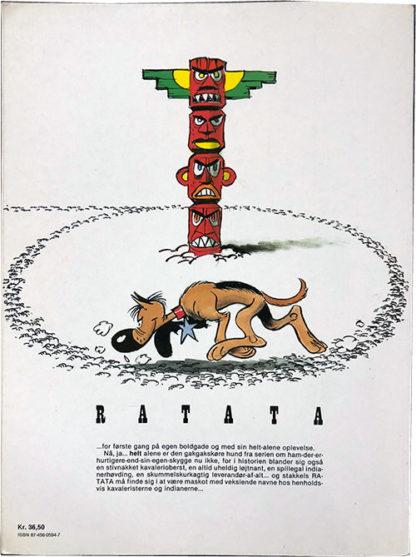 Ratata 1 Maskotten - Tegneserie album - bagside