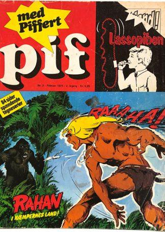 Pif 1974 Nr. 2 Rahan i Kæmpernes Land