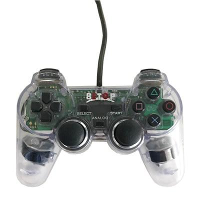 Betop dual shock PS2 controller gennemsigtig