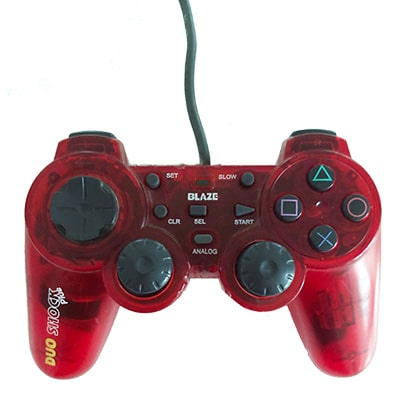 Blaze dual shock PS2 controller i rød